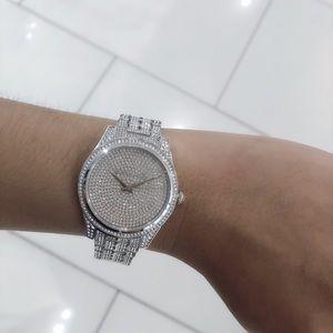 7df966e968ce Michael Kors Accessories - Michael Kors Lauryn Pavè Silver-Tone Watch